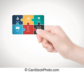 Business card exchange businessmen exchanging business vector hand business card reheart Image collections