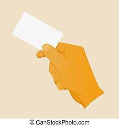 hand business card