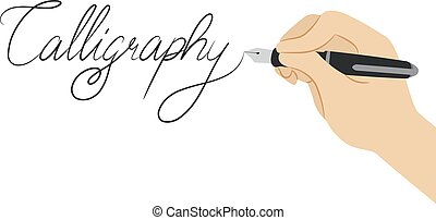 Hand Calligraphy Lettering Illustration