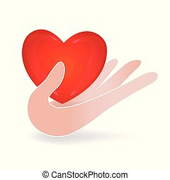 Hand care a love heart logo