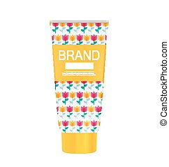 Hand Care Cream Bottle, Tube Template for Ads or Magazine...