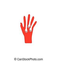 hand care negative space symbol vector