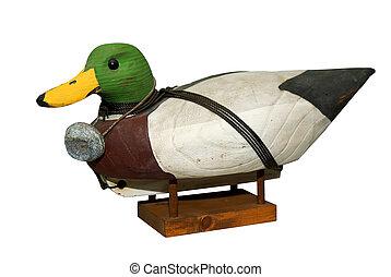 Hand carved Mallard Drake Decoy Duck
