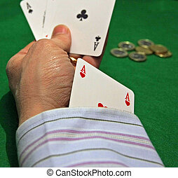 cheat with the ace of hearts in the hole at the casino