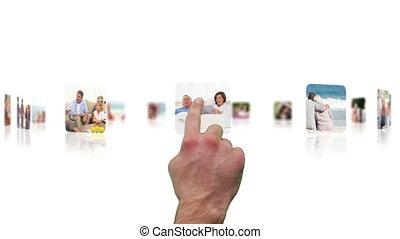 Hand choosing clips
