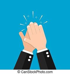 hand clap vector success illustration  acclaim icon