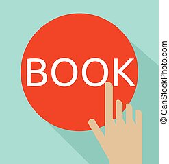 Hand click on book button