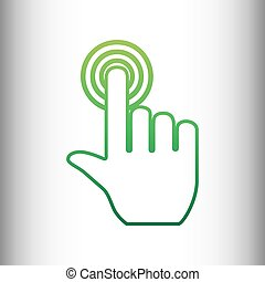 Hand click on button