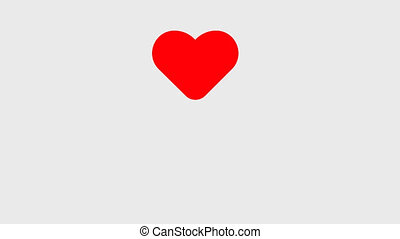 Hand Clicking Heart Symbol with transparent background