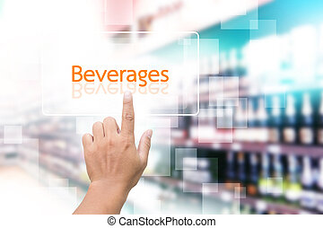 Hand Clicking On Beverage Button