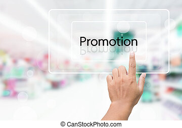 Hand Clicking On Promotion Button