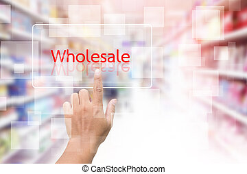 Hand Clicking On Wholesale Button