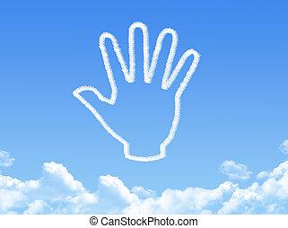 hand cloud shape