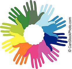 Hand color imprints
