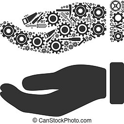 Hand Composition of Service Tools