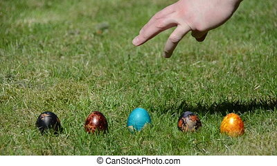 Easter egg game - Hand countdown to start Easter egg game....
