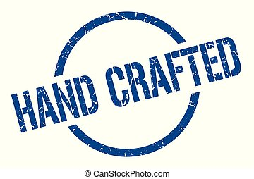 hand crafted stamp - hand crafted blue round stamp
