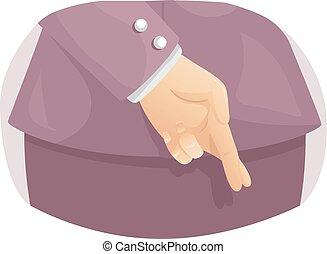 Hand Cross Finger Woman