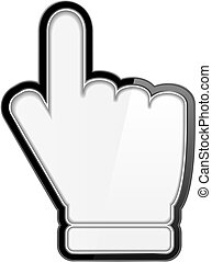 Hand cursor icon on white background, vector eps10 ...