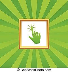 Hand cursor picture icon