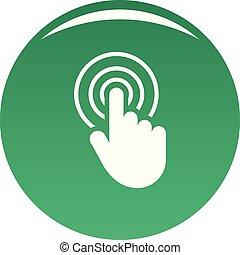 hand cursor web icon vector green