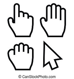 Hand Cursors Vector