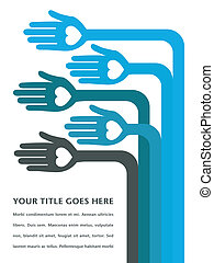 Hand design with text space. - Bent arms and hands design...