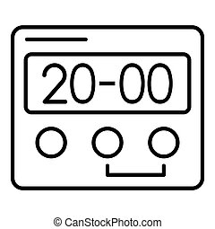 Hand digital clock icon, outline style