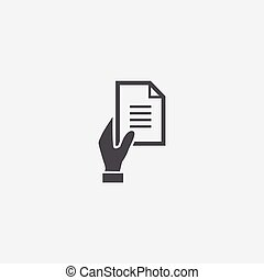 hand document icon