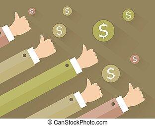 Hand dollar