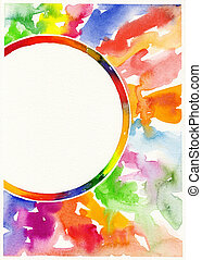 abstract watercolor painting background - hand draw abstract...
