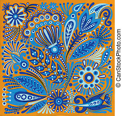 Ukrainian traditional painting - hand draw acrylic painting...