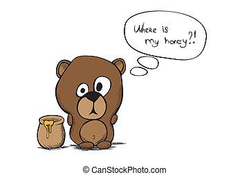 hand draw bear