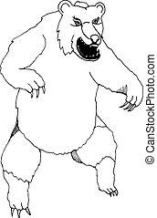 hand draw bear style sketch