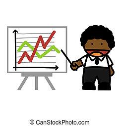 Hand-draw business people cartoon.