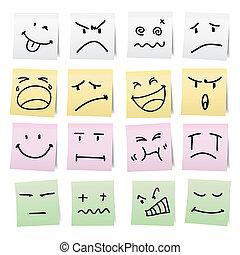 Hand draw cartoon on paper note. - Hand draw cartoon on ...