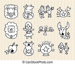 hand draw Constellation  - hand draw Constellation