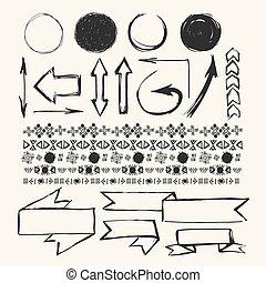 Hand draw design elements. Hand draw vector art
