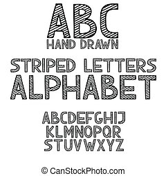 hand draw doodle abc, alphabet grunge type font vector illustration