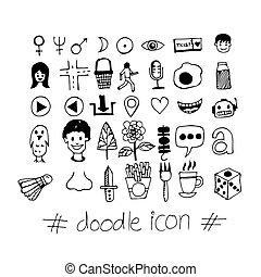 Hand draw doodle icon illustration design