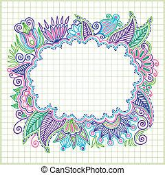 doodle vector frame element