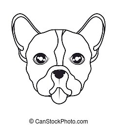 hand draw face dog icon