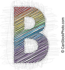 Hand draw font LETTER B