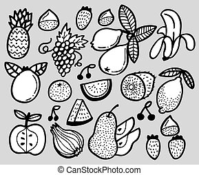 hand draw fruit