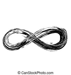 hand draw grunge symbol of infinity, vector illustration...