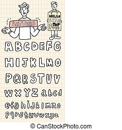 hand draw letters element  - hand draw letters element