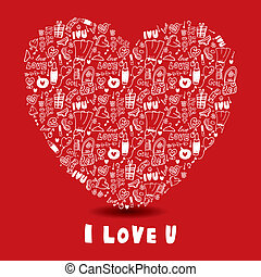 hand draw love card