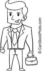 Hand draw of businessman character
