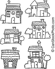 Hand draw of house collection