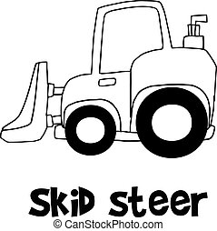 Hand draw of skid steer